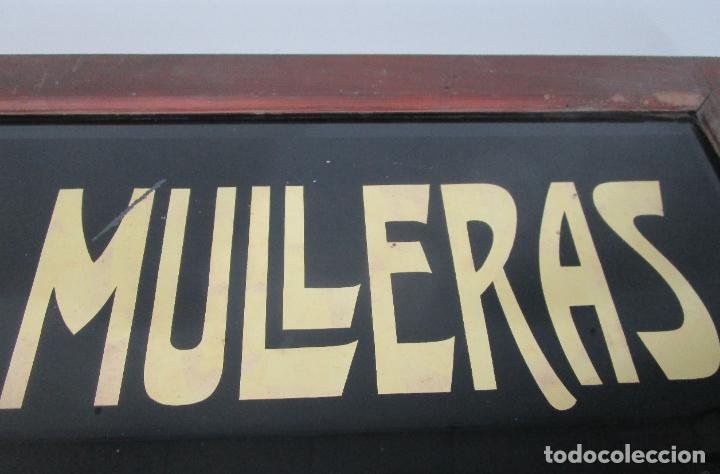 Carteles: Antiguo Cartel - Hijo de Camilo Mulleras - Fabrica Textil, Castellfollit de la Roca -Cristal Pintado - Foto 4 - 219143690