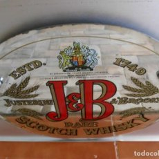 Carteles: ESPEJO OVALADO DE WHISKY J.B.. Lote 221508197