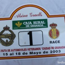 Carteles: CARTEL XIX RUTA DE AUTOMOVILES VETERANOS, CIUDAD DE GRANADA 2003, RACE, Nº 2. Lote 221527281