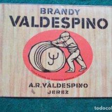 Carteles: CHAPA BRANDY VALDESPINO. Lote 222017482