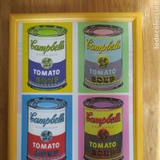 Carteles: POSTER CARTEL ANDY WARHOL TOMATO TOMATE ENMARCADO. Lote 223800965