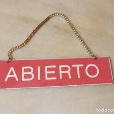Carteles: CARTEL ABIERTO - CERRADO ANTIGUO. Lote 223921208