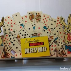 Carteles: CARTEL TROQUELADO CALENDARIO MAGICO MAYMO 1962. Lote 225345881