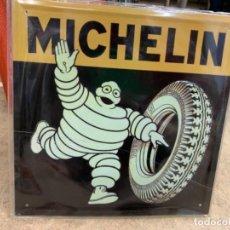 Cartazes: CHAPA DE METAL DE BIBENDUM DE MICHELIN. REEDICIÓN. Lote 225403700