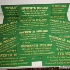 Cartazes: LOTE DE 20 CARTELES DE PUBLICIDAD DE CARTÓN, IMPRENTA MOLINA, ALCOY, 80´S. Lote 226111270