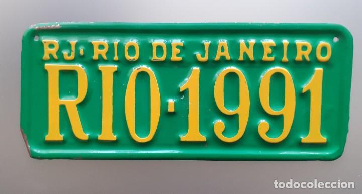 Carteles: PLACA DE MATRÍCULA RJ - Rio de Janeiro RIO-1991 31X13 CMS - Foto 4 - 226248535