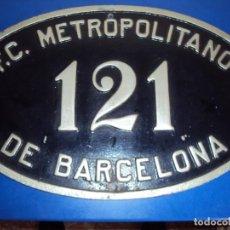 Carteles: (PL-201100)PLACA ORIGINAL F.C.METROPOLITANO DE BARCELONA. Lote 255312935