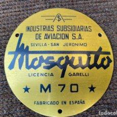 Cartazes: CHAPA DE MOTORES MOSQUITO EN BASTANTE BUEN ESTADO.. Lote 226823655