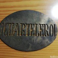 Carteles: CHAPA MILITAR. Lote 228290110
