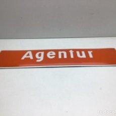 Carteles: CHAPA ESMALTADA AGENTUR - AGENCIA DE SEGUROS. Lote 230702365