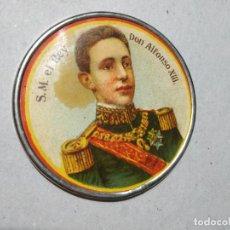 Affissi: ANTIGUO ESPEJO LITOGRAFIADO DE S.M. ALFONSO XIII. 5,3 CM DIAM. EL DE LA FOTO.. Lote 231682945