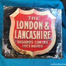 Carteles: THE LONDON & LANCASHIRE. SEGUROS CONTRA INCENDIOS.. Lote 232697910