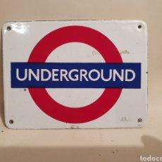 Affiches: UNDERGROUND. CHAPA ESMALTADA. METRO DE LONDRES. AÑO 1989. MADE IN ENGLAND.. Lote 233729465