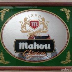 Carteles: CUADRO ESPEJO CERVEZA MAHOU CLASICA 1890 - 47X38 CENTIMETROS - LOTE 2. Lote 234625720