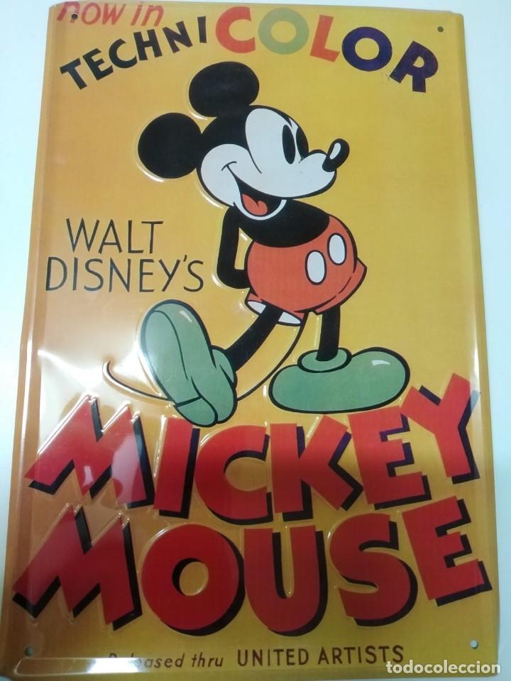 PLACA MICKEY MOUSE (PARA COLGAR) (Coleccionismo - Carteles y Chapas Esmaltadas y Litografiadas)