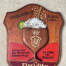 Carteles: CARTEL TIPO METOPA DEL CAFÉ FLORIDITA - HABANA VIEJA - CUBA - HEMINGWAY NUNCA DUDÓ...... Lote 236147540