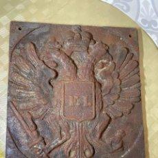 Carteles: EXCLUSIVA PLACA FUNDICION SIGLO XVIII EMPERADOR IMPERIO AUSTRO HUNGARO GALITZIA LVIV UCRANIA UNICA. Lote 237735985