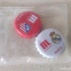 Carteles: CHAPAS DE CERVEZA MAHOU FINAL CHAMPIONS 2014 REAL MADRID VS ATLÉTICO. CONMEMORATIVAS. Lote 238183660