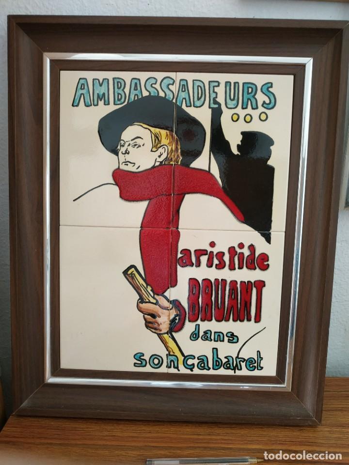 CUADRO AMBASSADEURS ARISTIDE BRUANT DANS SON CABARET (Coleccionismo - Carteles y Chapas Esmaltadas y Litografiadas)