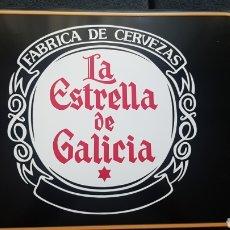 Carteles: CARTEL CHAPA LA ESTRELLA DE GALICIA. Lote 239856440