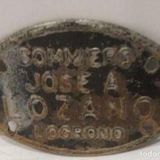Carteles: CHAPA SOMMIERS JOSE A LOZANO LOGROÑO. Lote 242988570