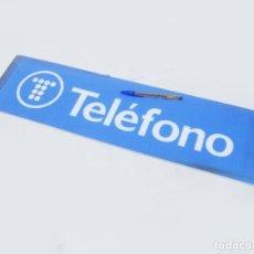 Carteles: PLASTICO DEL LUMINOSO DE LA CABINA DE TELEFONOS DE TELEFÓNICA - VINTAGE. Lote 243906330