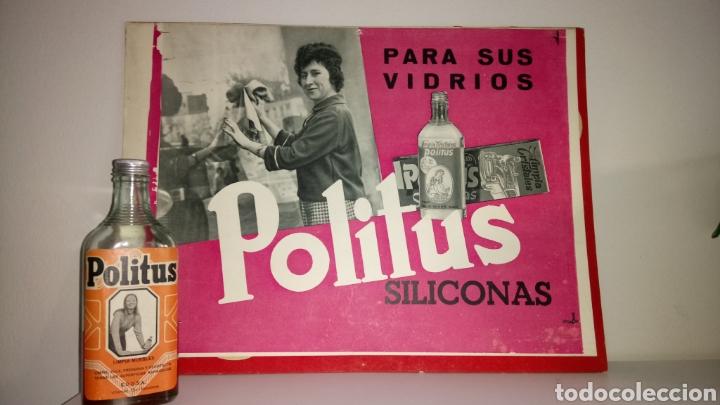 LOTE DE LIMPIADOR POLITUS. AÑOS 60/70. (Coleccionismo - Carteles y Chapas Esmaltadas y Litografiadas)