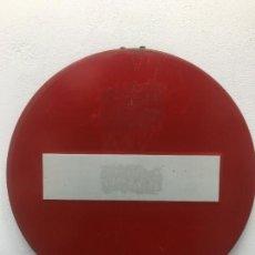 Carteles: SEÑAL TRAFICO - METALICA - 60 CMS. DE DIAMETRO. Lote 249120400