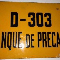 Carteles: TANQUE DE PRECAPA- ESMALTADA. Lote 44108062