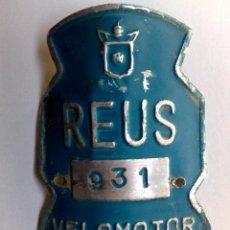Carteles: CHAPA RODAJE VELOMOTOR DE REUS,AÑO 1973.. Lote 252734625