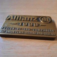 Carteles: PLACA CONMEMORATIVA ALLIANZ. Lote 89213804