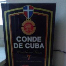 Carteles: MAGNIFICO CARTEL LUMINOSO RON CONDE DE CUBA. Lote 253326675