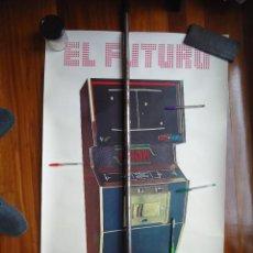 Carteles: CARTEL VINTAGE TENNIS SHOW PETACO VIDEOJUEGO MAQUINA RECREATIVA JUGUETE JOYSTICK EGB PINBALL ESPAÑA. Lote 253972360