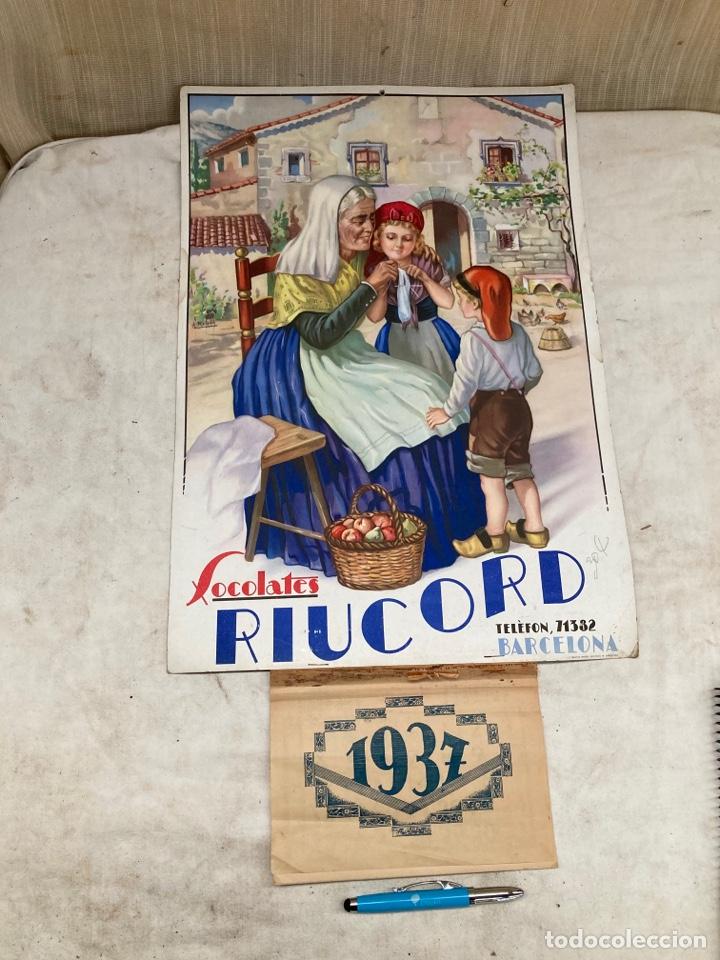 CARTEL ANTIGUO DE 1937 CON CALENDARIO! (Coleccionismo - Carteles y Chapas Esmaltadas y Litografiadas)