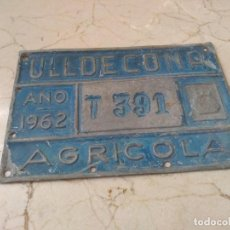 Carteles: ANTIGUA PLACA DE ULLDECONA (TARRAGONA) AÑO 1962. Lote 259281085