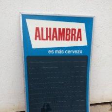 Affissi: ANTIGUO CARTEL PIZARRA LETRERO BAR RESTAURANTE DE CERVEZA ALHAMBRA GRANADA. Lote 260089715