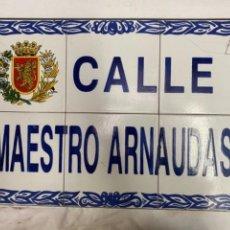 Carteles: PLACA DE ZARAGOZA. CALLE MAESTRO ARNAUDAS. PRECIOSA.. Lote 265859999