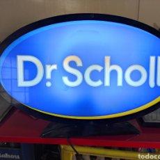 Carteles: LUMINOSO PUBLICITARIO DR. SCHOLL. FUNCIONANDO. 52X33CM. Lote 266112513