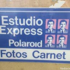 Carteles: ANTIGUO CARTEL POLAROID, ESTUDIO EXPRESS 80X49CM. Lote 266115958