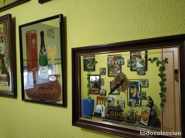 Carteles: Espejo cartel publicidad cava españoles 11 cuadros freixenet castellblanch codorniu etc - Foto 2 - 266344688