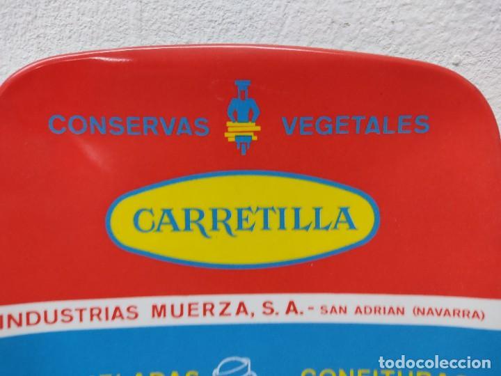 Carteles: PLATO DE PUBLICIADAD.CONSERVAS VEGETALES LA CARRETILLA.MERMELADAS BEBE.SAN ADRIAN NAVARRA. - Foto 3 - 266481518