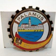 Carteles: PLACA METAL LATON ESMALTADO, AÑOS 60, PARA COCHES, PALAMOS, (8 CM DIAMETRO). Lote 267627249