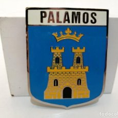 Carteles: PLACA METAL LATON ESMALTADO, AÑOS 60, PARA COCHES, PALAMOS, (7,5X6). Lote 267627484