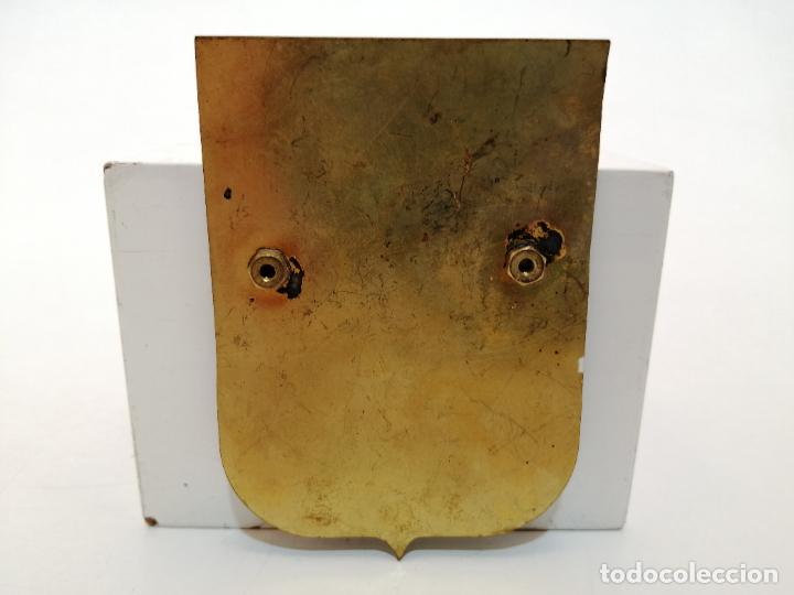 Carteles: PLACA METAL LATON ESMALTADO, AÑOS 60, PARA COCHES, LE PERTHUS-LA JUNQUERA, (9X6,5) - Foto 2 - 267630109