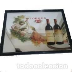 ESPEJO PUBLICIDAD CARTEL BODEGAS TORRES (Coleccionismo - Carteles y Chapas Esmaltadas y Litografiadas)