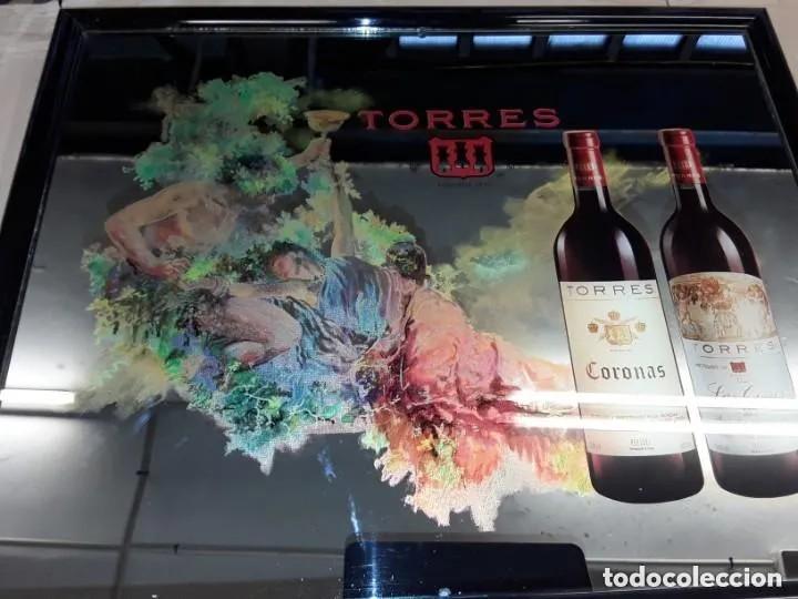 Carteles: Espejo publicidad cartel bodegas Torres - Foto 2 - 268729129