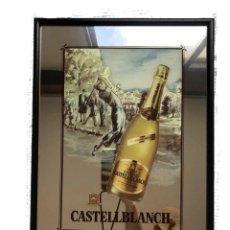 Carteles: ESPEJO PUBLICIDAD CARTEL CAVAS CASTELLBLANCH. Lote 268787654