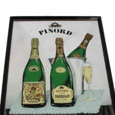 Carteles: ESPEJO PUBLICIDAD CARTEL CAVAS PINORD. Lote 268787694