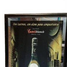 Carteles: ESPEJO RELOJ PUBLICIDAD CARTEL CAVAS CASTELLBLANCH. Lote 268787784