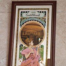 Carteles: ESPEJO CARTEL PUBLICIDAD CAVA CASTELLBLANCH. Lote 268946579